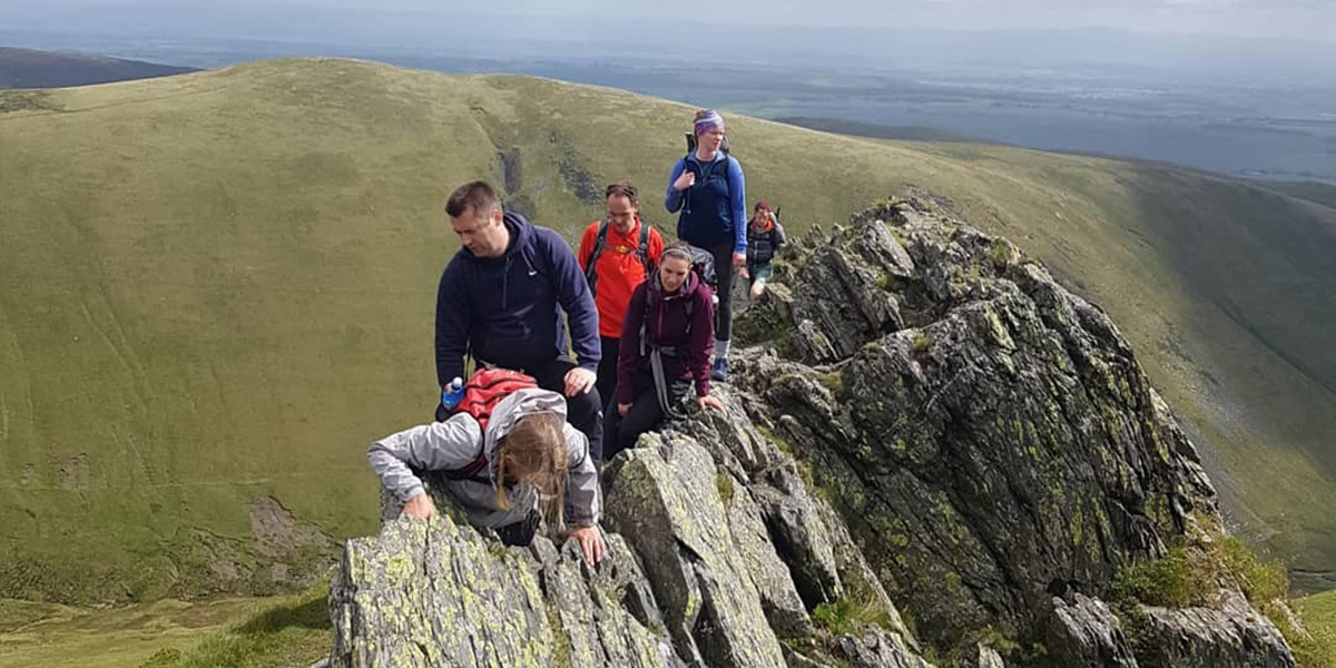 Climbing Sharp Edge to Blencathra