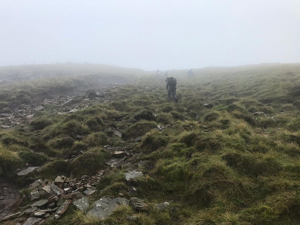 The steep, temporary ascent of Ingleborough